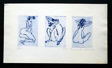 Frantisek Kratochvil, erot. Siderographie, 3 Frauenakte 1978, limit.+signiert