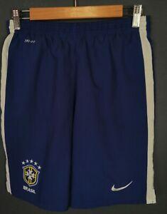NIKE MEN'S BRAZIL NATIONAL BRASIL 2013/2014 SHORTS FOOTBALL SOCCER BLUE SIZE XL