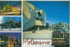 LARGE MELBOURNE POSTCARD - Steve Parish - TRAM, FEDERATION SQUARE, YARRA RIVER