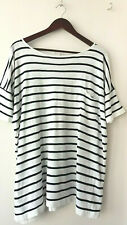 COS striped linen t shirt, Oversized, M