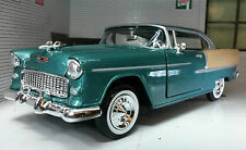 G LGB 1:24 Scale 1955 Chevrolet Chevy Bel Air Hard Top Car Motormax 73229 Green