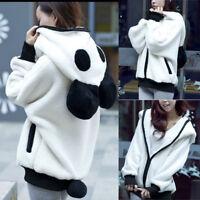 Giacca donna con cappuccio caldo inverno felpa maglione Panda Tops capispalla