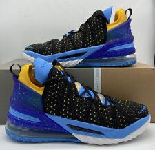 Nike Lebron XVIII 18 Retro Lakers patrimonio CQ9283-006 Negro Azul Zapatos para hombre Talla