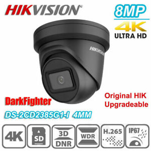 Hikvision DS-2CD2385G1-I 4K 8MP DarkFighter POE Turret IP Network Camera 4mm