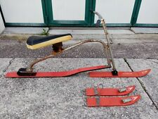 Sledding Sled Morotto Cortina D'Ampezzo Monoski Toboggan Sledding Skiing Wood