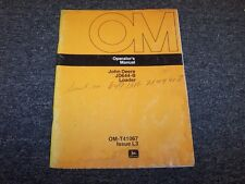 John Deere 644B Wheel Loader Tractor Owner Operator User Guide Manual OMT41067