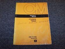 John Deere 644B Wheel Loader Tractor Owner Operator User Guide Manual OMT41067