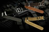 INFANTRY 20/22mm Mens Watch Band Strap Leather Sport Replacement Watch