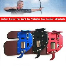 New listing Archery Finger Tab Guard Bow Protector Gear Leather Adjustable YU