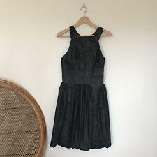 Nicola Finetti Dress Size 10 Designer Made In Australia Sleeveless Black Bubble