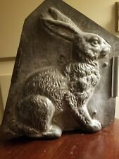 ANTIQUE EPPELSHEIMER 4746 TIN CHOCOLATE MOLD RABBIT Easter