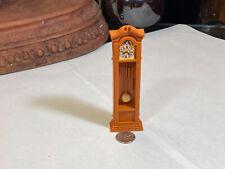 Miniature Dollhouse Furniture Vintage Plastic Grandfather's Clock  Set of 2