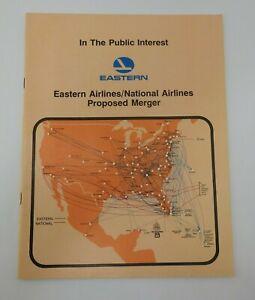 Vintage 1978 Eastern Airlines National Air Proposed Merger Booklet