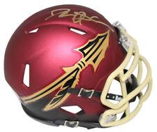 Deion Sanders Autographed Florida State Seminoles Garnett Mini Helmet Bas 25066