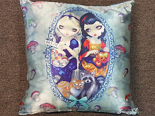 ALICE & SNOW WHITE CUSHION PILLOW BED ROOM HOME DECOR by Jasmine Becket-Griffith