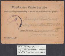 1941?POW Notification Postcard; Oflag Camp Censor,Germany to Belgrade,Yugoslavia