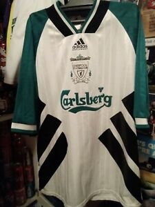 2 3 LOT RARE soccer FOOTBALL SHIRT jersey MEN XL 46 Liverpool adidas UK white