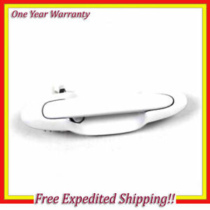 Rear Left Outside Door Handle For 01-05 Mazda MPV A4D Arctic White B3824
