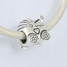 Genuine PANDORA Sterling Silver Baby Carriage Pram Charm 790346