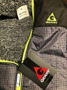 Gerry Boys Jacket Coat Reversible Gray Sherpa Lime Trim Size 5-6