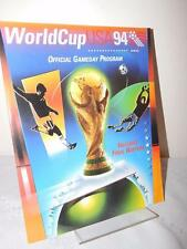 WORLD CUP USA 94 Official Gameday Program 1994 Rare Soccer Magazine Memorabilia