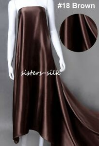 """22mm 100% Mulberry Silk Satin Fabric 140cm / 55"""" Wide For Bedding Clothing"""