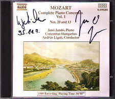 Jeno JANDO & LIGETI Signed MOZART Piano Concerto 13 20 CD Andras Klavierkonzerte
