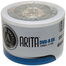 50 Arita Green DVD-R 8x Blank DVD Discs 4.7 GB Ritek G05 120 mins NON printable