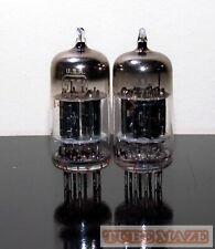 RARE Matched Pair RCA JRC-5751WA/12ax7/ECC83 Black Plates tubes - Test NOS