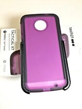 Tech21 Evo Tactical XT Case/Cover with Holster For Moto Z Droid In Purple/Black