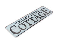TIN SIGN Welcome to the Cottage Metal Décor Art Farm Shop Beach Kitchen A678