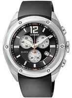 Citizen Eco-Drive Chronograph Rubber Strap Men's Watch AT0980-12F