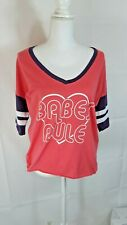 Made Right Juniors Womens Size L Multi Color Babes Rule Shirt Top Blouse