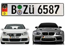 German Euro Plate w/ German Flag & Coat of Arms Random Characters New Free Ship