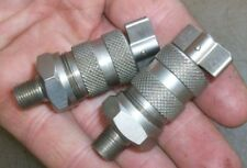 """SMALL GREASE CUPS N.O.S. NICKEL PLATED  1/8"""" Mounting Old Gas Engine Antique Car"""