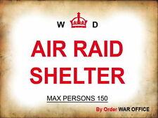 Air raid shelter ww2 Retro Metal Plaque/Sign, Pub, Bar, Man Cave,