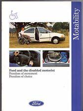 FORD motability per i driver DISABILI mercato del Regno Unito 1991-92 OPUSCOLO FIESTA ESCORT
