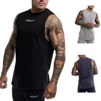 Echt T-Shirt Vest Men's Gym Training Sleeveless Fitness Bodybuilding Muscle Top