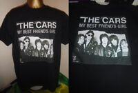 "THE CARS- MY BEST FRIEND'S GIRL 1978 7"" SINGLE  ART T SHIRT-  BLACK EXTRA LARGE"