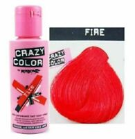 Crazy Colour Semi Permanent Hair Dye 100ml  Fire Red 56