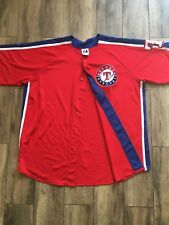 Authentic Majestic Texas Rangers Red Jersey XL