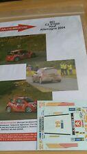 DECALS 1/32 REF 863 CITROEN C2 S1600 HAAF RALLYE ALLEMAGNE 2004 RALLY WRC