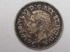 1938 Canadian Ten Cent Dime (Toned). 10c. CANADA. King George VI.  #15