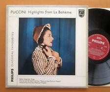 Puccini Highlights From La Boheme Stella Capecchi Pradelli Philips GL 5653 NM/EX