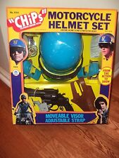CHIPS MOTORCYCLE HELMET PLAYSET HG TOYS (ULTRA RARE) LOOK 1979 MINT IN BOX