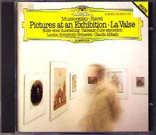 Claudio ABBADO: MUSSORGSKY Pictures at an Exhibition RAVEL La Valse DG CD LSO