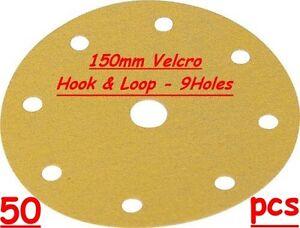"150mm 6"" Hook &  Loop Sanding Discs 240 G 50pcs"