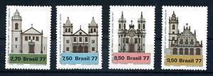 Briefmarken Brasilien 1977 Kirchenarchitektur 1637 - 1640 ** postfrisch BR118