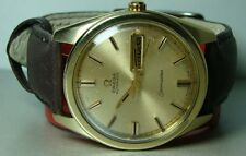 Vintage Omega Seamaster Automatic Day Date Steel Gold Mens old Used Watch AH