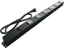 """24"""" Metal Power Strip with 6 Outlets, Surge Protected 2063"""